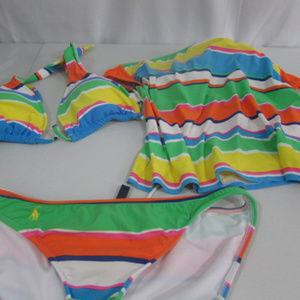 Ralph Lauren 3 Bathing Suit Pieces Small & Medium